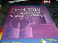 4 MICROSOFT 2010 EXCEL TEXT BOOKS