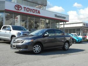 2013 Toyota Corolla Enhanced Convenience Package with Sunroof
