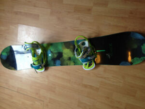 150 cm Genie snowboard with bindings- receipt included