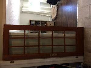 Gorgeous interior wood door with beveled glass and crystal knob
