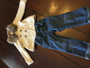 Sweater Coat and Jeans - 18 to 24 mths
