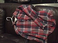 American eagle long sleeve button up shirts forsale