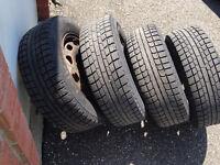 4 Tires hivers 15 pouce