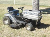 tracteur tondeuse de jardin WHITE 8HP.