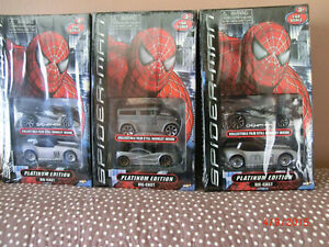LOT OF 7 DOUBLE BOXED SET OF SPIDERMAN PLATINUM EDITION CARS