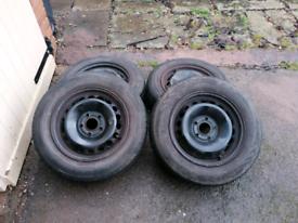 Megane mk3 steel wheels+tyres