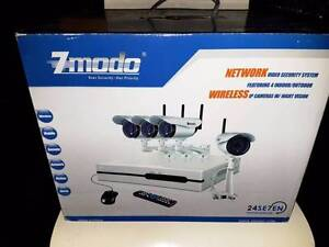 4 camera WIRELESS IP NVR  kit.  DVR WiFi cam mobile phone access Girrawheen Wanneroo Area Preview