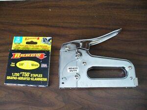 Arrow T50 Staple Gun with box of 3/8 staples
