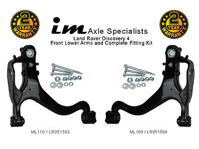Land Rover Discovery 4 Complete Front Lower Suspension Control Arm Kit  Fittings