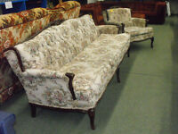 Antique couch and matching chair