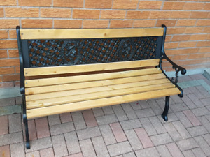 Cast iron bench wrough iron bench