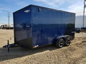 TAX IN! NEW IMPACT TRAILERS 7X14 V NOSE CARGO/ENCLOSED TRAILER
