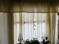 Curtains - six panels and six matching sheers. $40 obo