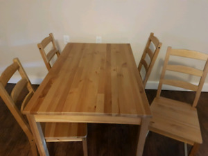 Dining room table and chairs ($50 obo)