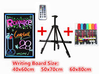 LED Tempered Glass Writing Board+RC+Tripod+Neon Fluorescent Pen ; Chalk Board Sign Board Promotion