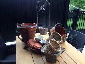 Pots à fleurs crochets a jardinière