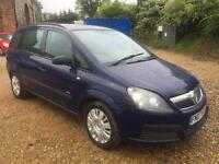 2007 Vauxhall Zafira 1.6i 16v ( a/c ) Life petrol manual