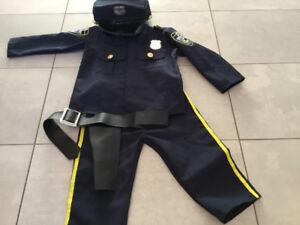 Policeman costume Size 4