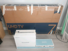 65 INCH + SAMSUNG SOUNDBAR+ BOX ULTRA