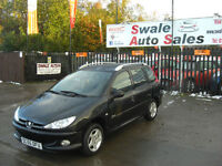 2006 PEUGEOT 206 SW VERVE 1.4L ONLY 77,587 MILES, FULL SERVICE HISTORY