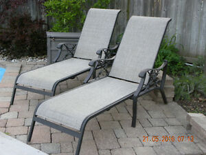 2 Pioneer Pool Matching Loungers