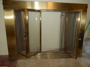 Repurpose Fire Place Doors for your outdoor fireplace or???