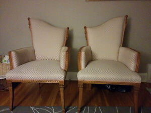 Antique fireplace chairs