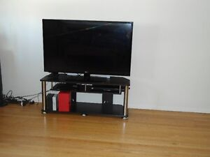 """47"""" LG TV and Sony blueray DVD player with TV stand"""