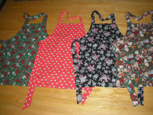 Hand Crafted Christmas Aprons, - Assorted Sizes and Patterns