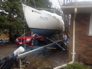 26' Grampian sailboat (as is)