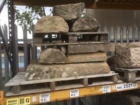 Round top/half moon sandstone copes