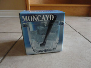 Italian crystal glass ice bucket with tongs Brand new in box London Ontario image 2