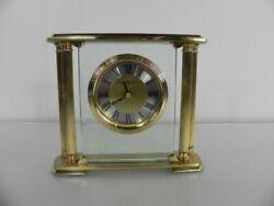 Howard Miller 613627 Athens Mantle Tabletop Clock Solid Brass Beveled Glas W/Bo