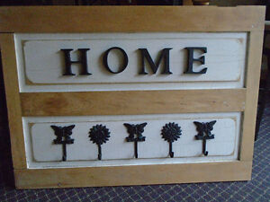 White/Wood coat rack, HOME