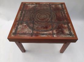 Vintage retro Danish wooden teak 60s tiled coffee table
