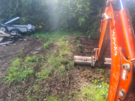 Digger hire landscaping