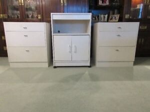 Bedside tables and storage cabinet