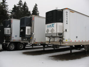 2005 53 tandem reefers and 2002 48 foot tandem heater
