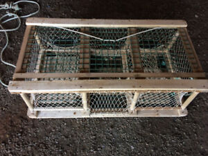 Lobster Traps Hardwood 43 length by 20 centers.