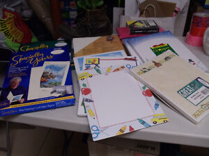 COLLECTION OF SPECIALTY PRINTER PAPER SUPPLIES - $40