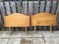 2 Single Bed Pine bed Headboards