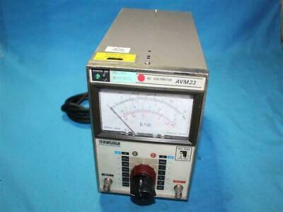 Kikusui Avm23 Ac Voltmeter Cut Cable