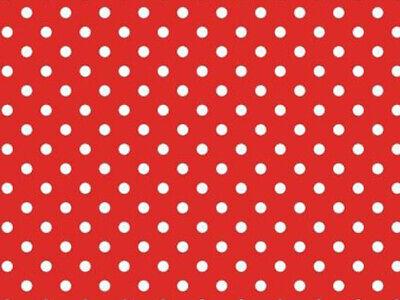 Wachstuch Tischdecke abwaschbar Gartentischdecke Meterware Polka Dots Rot Punkte ()