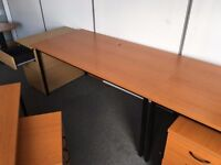 Office furniture: desks and under-desk draws, filing cabinets, heavy duty, coffee table