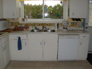 complete set of kitchen cupboards stove and oven
