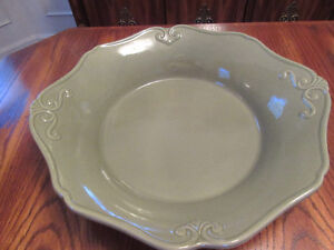 Princess House Olive Green Pasta Bowl, Mustard Deep Dish Baker