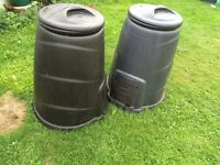 2x large black compost bins