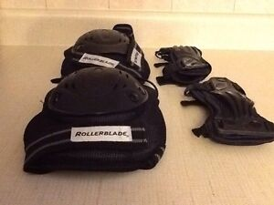 Barely used in-line skates and protective guards Cambridge Kitchener Area image 2