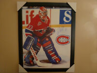 PATRICK ROY SIGNED FRAMED PRINT WITH CERTIFICATE AUTHENTICITY