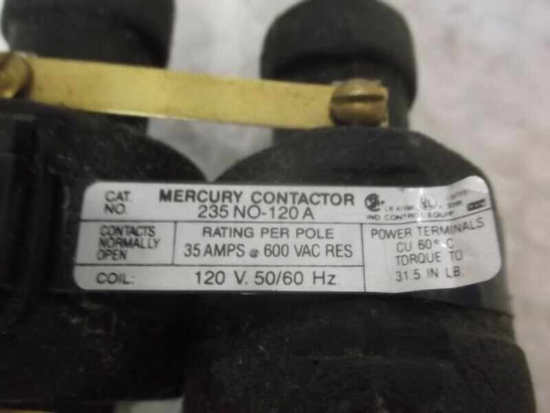 MDI 235NO-120A CONTACTOR 35AMP 600VAC * NEW NO BOX *
